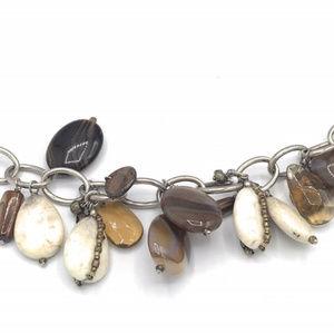 B2065 Retired Silpada Stone Charm Bracelet